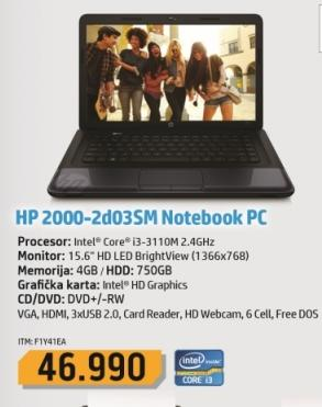 Laptop 2000-2d03sm