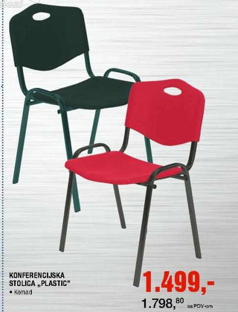 Konferencijska stolica Plastic