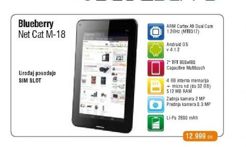 Tablet Blueberry NetCat M-18