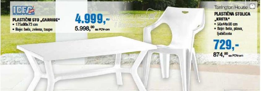 """Plastična stolica """"Kreta"""""""