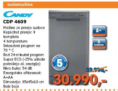 CDP 4609 mašina za pranje sudova