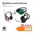 Slušalice sa mikrofonom Jetion DEP047