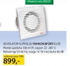 Ventilator kupatilski tehnoexport elite