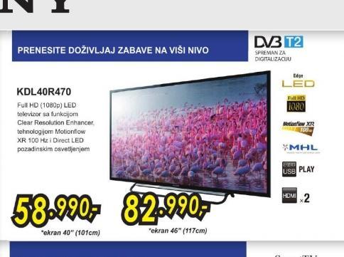 Televizor LED KDL-40R470ABAEP