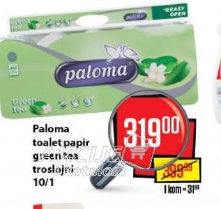 Toalet papir 3sl green tea