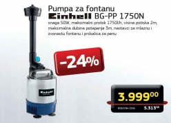 Pumpa za fontanu BG-PP 1750N