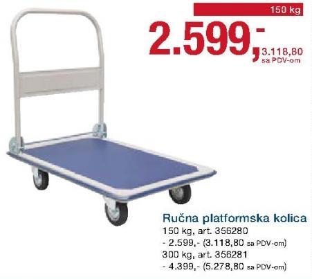 Ručna platformska kolica 150kg