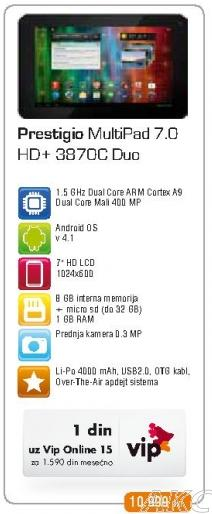 Tablet Multipad 7.0 HD plus 3870c Duo