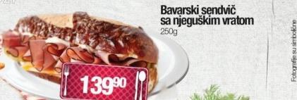 Bavarski sendvič sa njeguškim vratom
