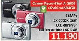 Digitalni fotoaparat powershot A2600 + Poklon Torbica i 4GB SD kartica