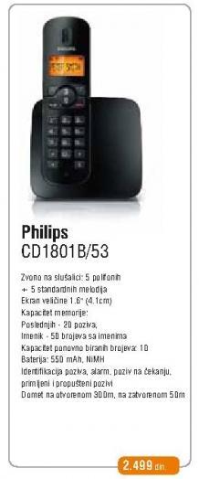 Bežični telefon Cd1801/53