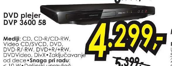 DVD Plejer Dvp3600 58