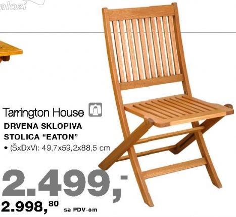 Drvena sklopiva stolica Eaton