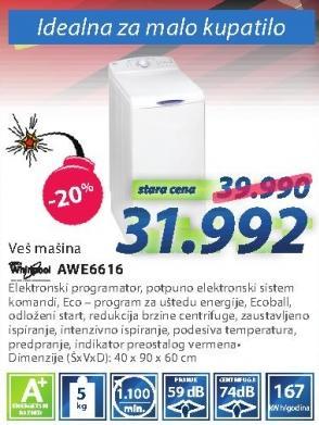 Veš mašina Awe6616