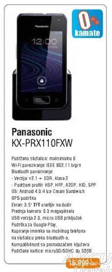 Bežični telefon Kx-Prx110fxw
