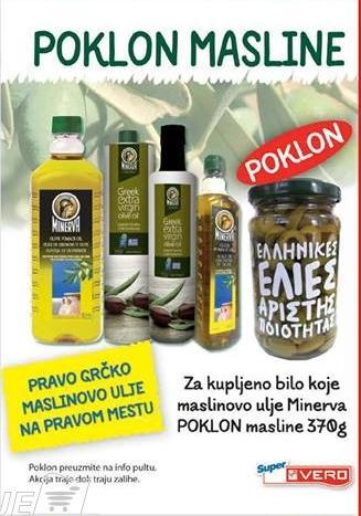 Uz Minerva maslinovo ulje poklon masline