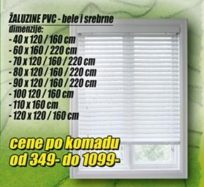 Žaluzine PVC 40x120/160