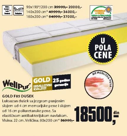 Dušek Gold F85 80x200