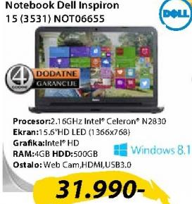 Laptop Inspiron 15 (3531) NOT06655