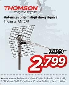 Antena za prijem digitalnog signala Ant279 Thomson
