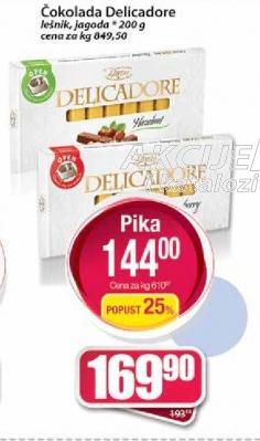 Čokolada Delicadore jagoda