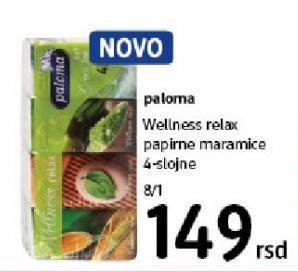 Papirne maramice 4sl Wellness relax