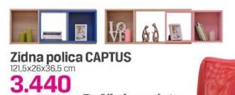 Zidna polica Captus