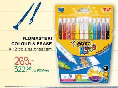 Flomasteri Colour & Erase