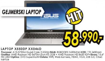 Laptop X550DP XX046D
