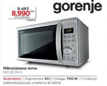Mikrotalasna Rerna Mo 20DS II