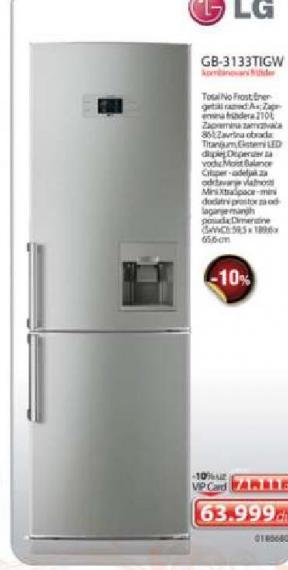 Kombinovani frižider GB-3133TIGW