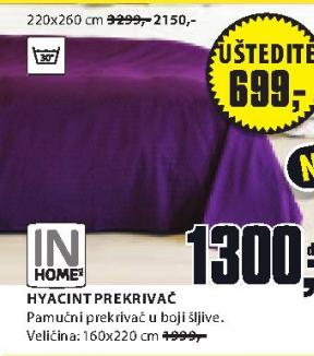 Prekrivač HYACINT, 220x260cm
