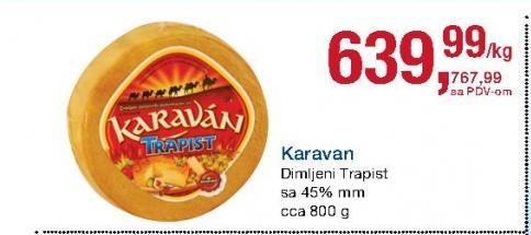 Dimljeni trapist 45% mm