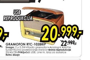 Gramofon RTC-1028RIP