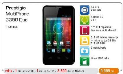 Mobilni telefon Multiphone 3350 Duo