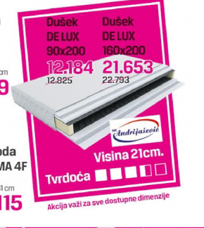 Dušek DE LUX 160x200, Andrijašević