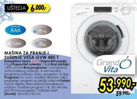 Mašina za prenje i sušenje Veša GVW485T