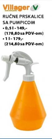 Ručne prskalice sa pumpicom 0,5l