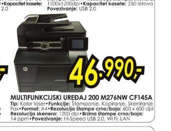 Multifunkcijski uređaj LaserJet Pro 200 M276NW CF145A