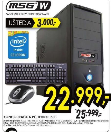 Desktop računar  MSG W konfiguracija PC TEHNO I500