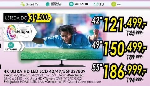 """Televizor LED 49"""" 3D 49pus7809"""