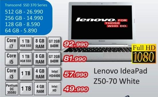 laptop IdeaPad Z50-70 white