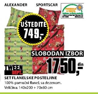 SET FLANELSKE POSTELJINE ALEXANDER