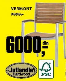 Baštenska stolica Vermont - Jutlandia