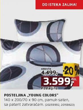 Posteljina Young Colors