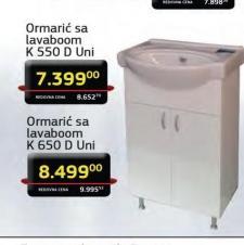 Ormarić sa lavaboom K 650