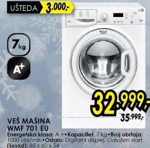 Hotpoint Mašina Za Pranje Veša WMF701EU
