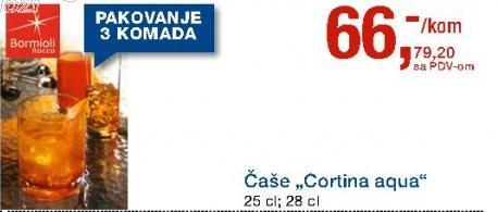 Čaša Cortina Aqua