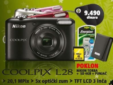 Foto aparat CoolPix L28