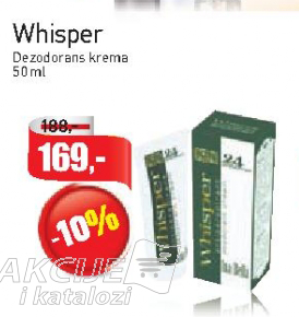 Whisper  dezodorans krema
